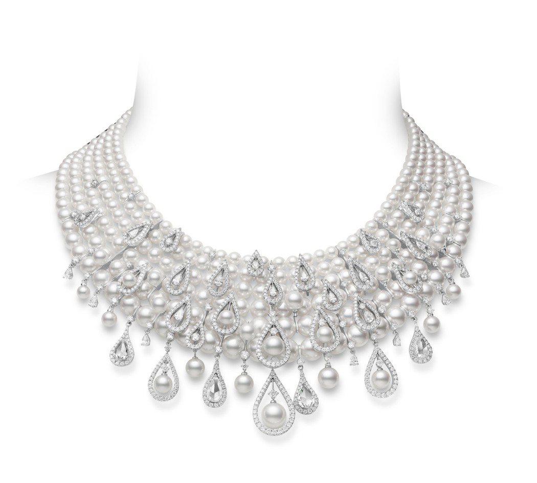MIKIMOTO頂級珠寶系列珍珠鑽石項鍊,價格未定。圖/MIKIMOTO提供