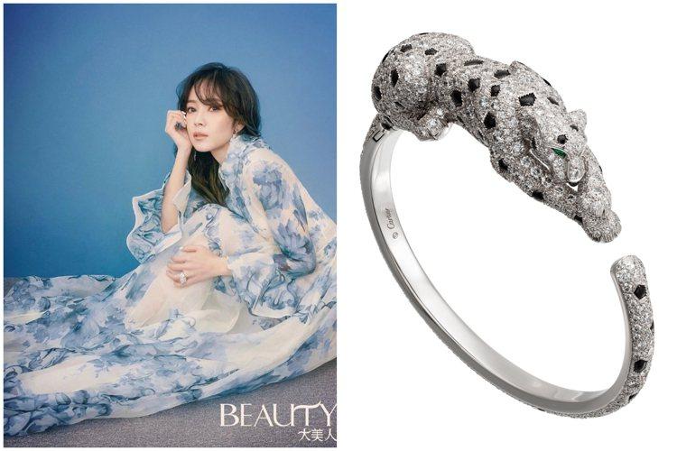 侯佩岑配戴卡地亞珠寶登上多個時尚雜誌的封面。圖/取自IG @houpatty、卡...