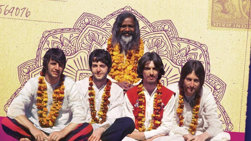 披頭四1968年前往印度向瑪哈士大師學習。圖/取自YouTube(@Paul Saltzman)