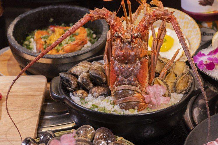 店家可代客將龍蝦調理成「黃金鮑龍粥」、「出水芙龍湯」。圖/哞哞屋提供