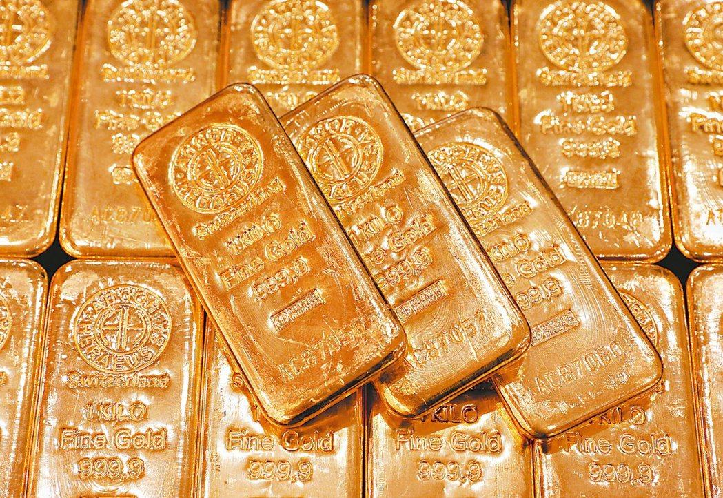 國際金價走高,貴金屬基金後市獲關注。 (路透)