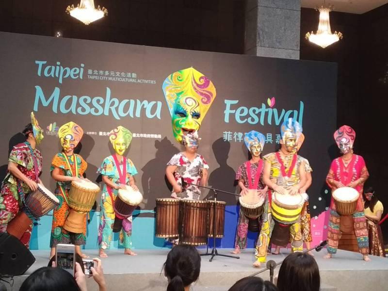 北市將首度舉辦「菲律賓面具嘉年華」,感受菲律賓面具嘉年華的熱情。記者林麗玉/攝影