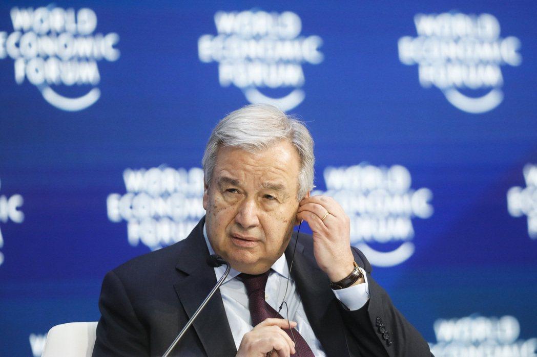 聯合國秘書長古特瑞斯(Antonio Guterres)。 圖/美聯社