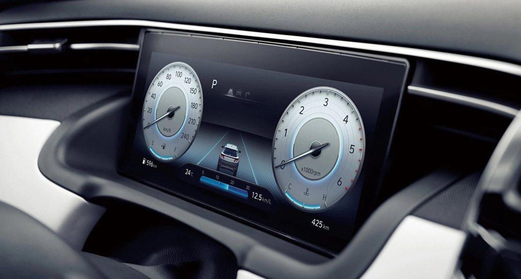第四代Hyundai Tucson在高階車款中換上了全新10.25吋數位儀表。 ...