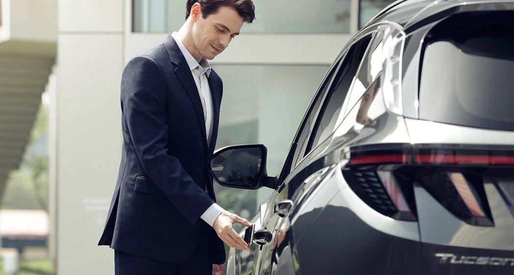 第四代Hyundai Tucson支援Hyundai Digital Key智慧...