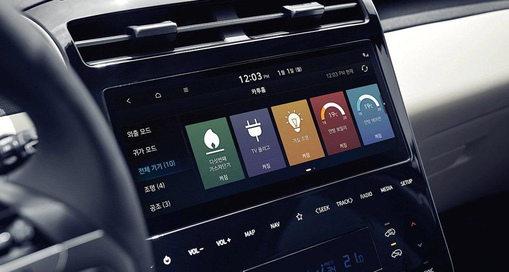 第四代Hyundai Tucson在韓國國內另有提供Home-to-Car互聯網...