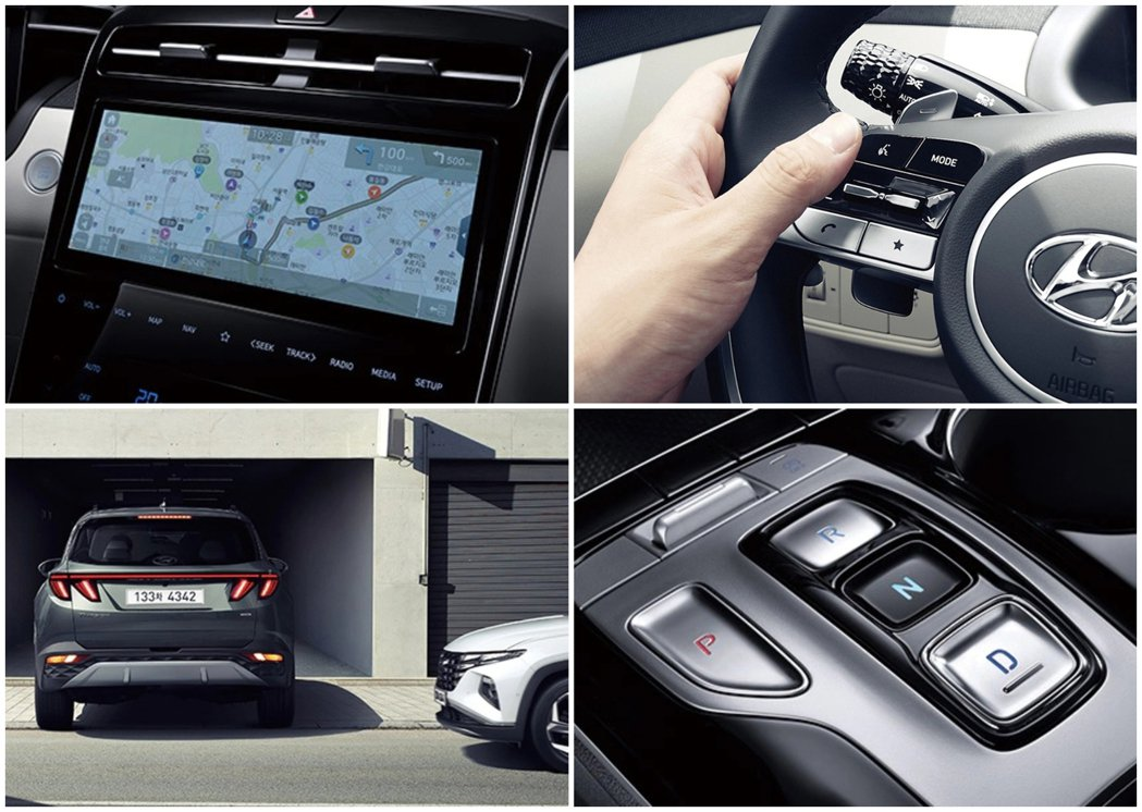 第四代Hyundai Tucson取消傳統的排檔桿設計,改以線傳式排檔呈現。 摘...