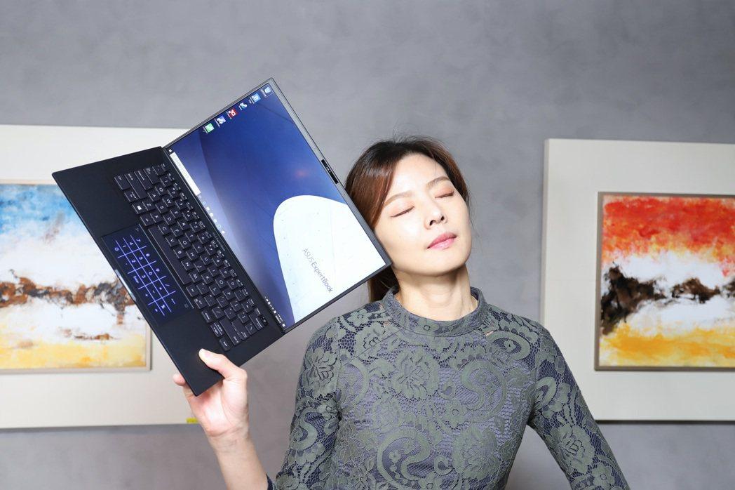 ASUS ExpertBook B9為華碩目前主力商用筆電。 彭子豪/攝影