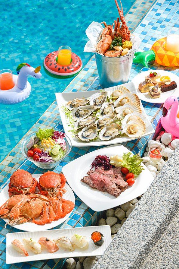 高雄國賓飯店露天池畔「中秋月光BBQ派對」示意圖。 高雄國賓飯店/提供