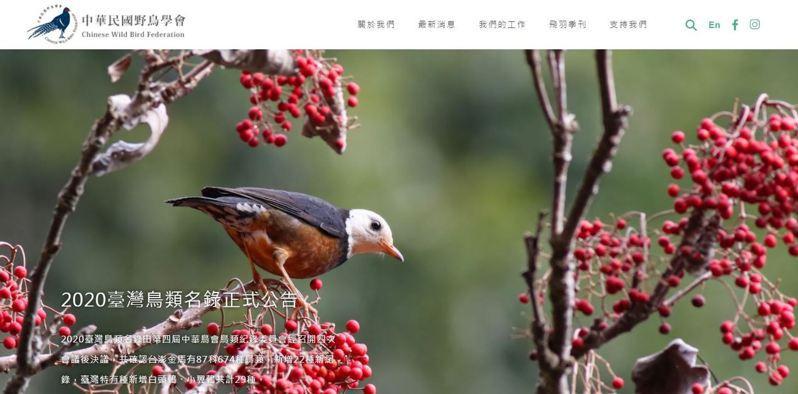 中華民國野鳥學會今天表示,國際鳥盟20年來要求改英文名3次,這次再要求改中文名並簽署承諾不促進或倡導台獨文件,在拒絕國際鳥盟後卻遭移除夥伴關係,將研議串聯他國因應。圖/取自中華民國野鳥學會官網
