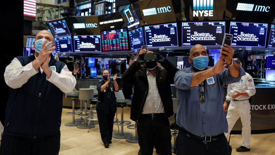 美股三大指數14日漲幅都超過1%。 (路透)
