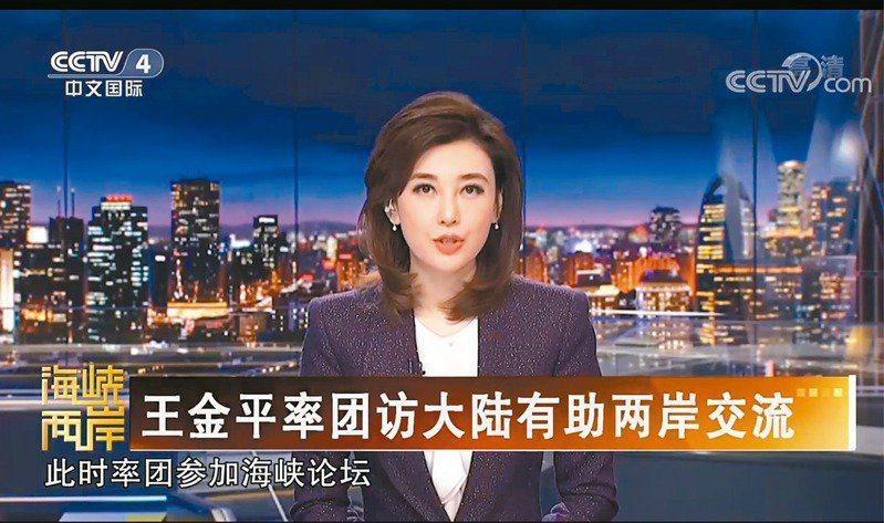 央視主持人李紅在「央視頻」發布「台海兵凶戰危,這人要來大陸求和」的影片,引發軒然大波。圖/央視截圖