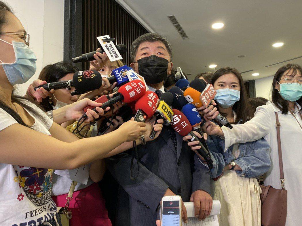 指揮中心指揮官陳時中今天說,COVAX沒有先後排名,且被政治影響相對少。聯合報記...