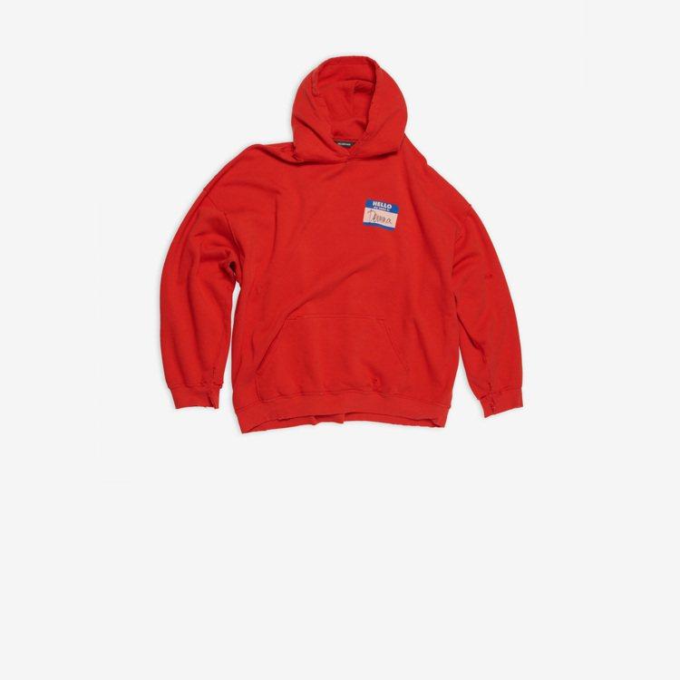 長袖連帽衛衣,30,100元。圖/BALENCIAGA提供