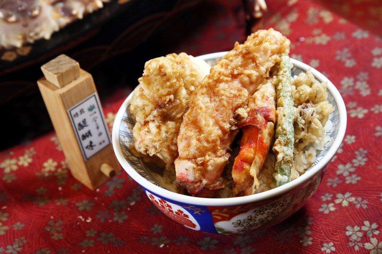 同步新推出的「鱈場蟹天丼」,單點價760元。記者陳睿中/攝影