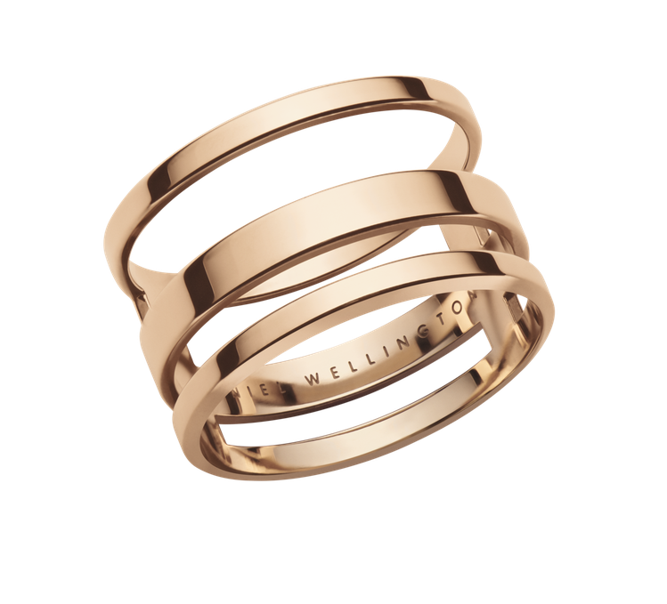 Elan系列三環戒指2,490元。圖/Daniel Wellington提供