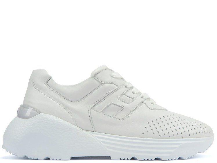 Active One白色皮革拼接男士休閒鞋,19,600元。圖/迪生提供