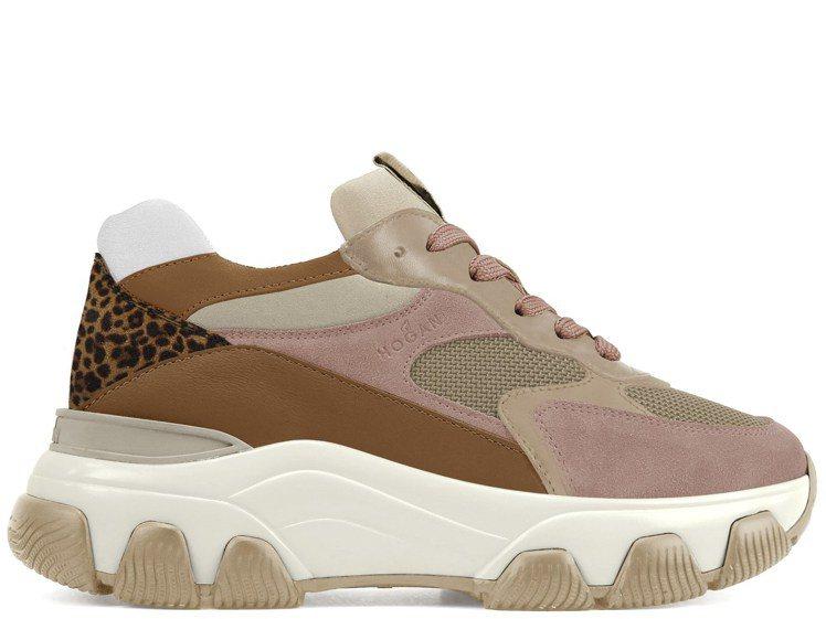 Hyperactive豹紋皮革拼接休閒鞋,22,000元。圖/迪生提供