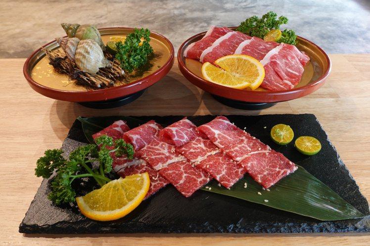 本季金洹苑新添加和牛沙朗、伊比利梅花豬、法國海螺等新食材。圖/金洹苑提供