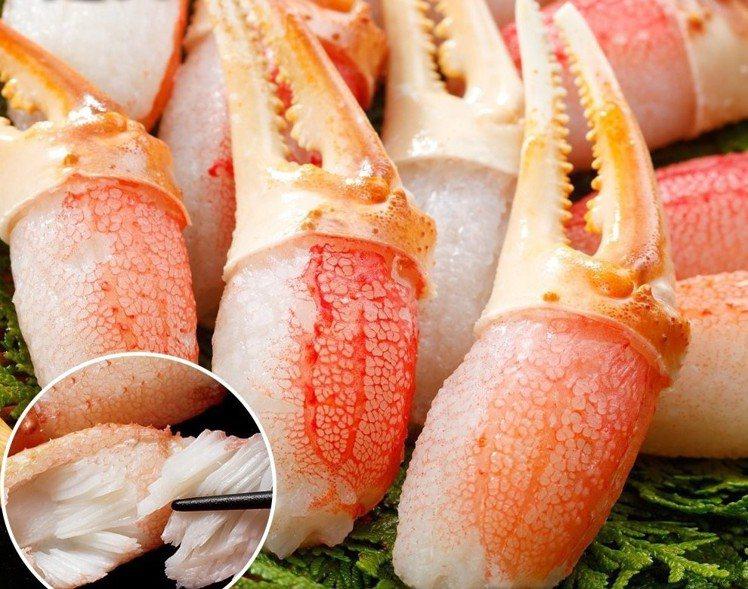 日本鳥取縣松葉蟹鉗(5包),松果購物特價1,331元。圖/松果購物提供