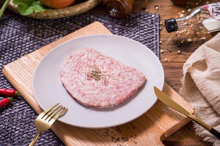 極品A5日本和牛漢堡排(8入),松果購物特價616元。圖/松果購物提供