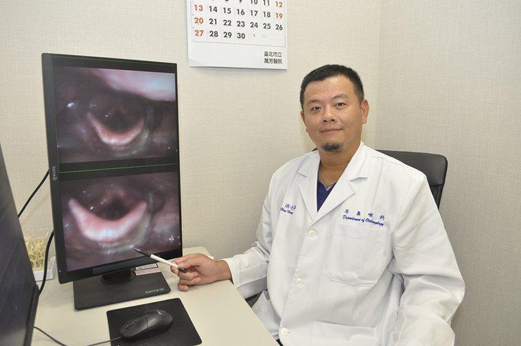 萬芳醫院耳鼻喉科主任洪士涵表示,年長者在進食時若出現嗆咳、喉嚨卡卡等症狀,應盡早...
