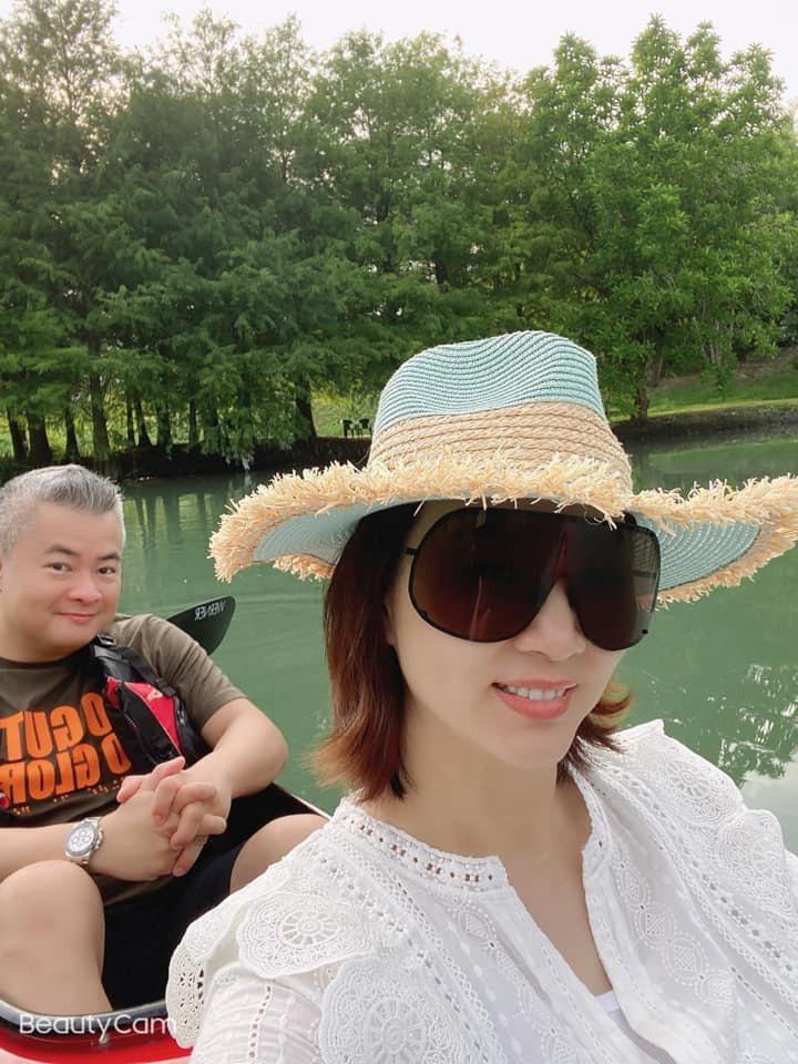 郁方與老公陳昱羲一家人到花蓮遊玩。 圖/擷自郁方臉書