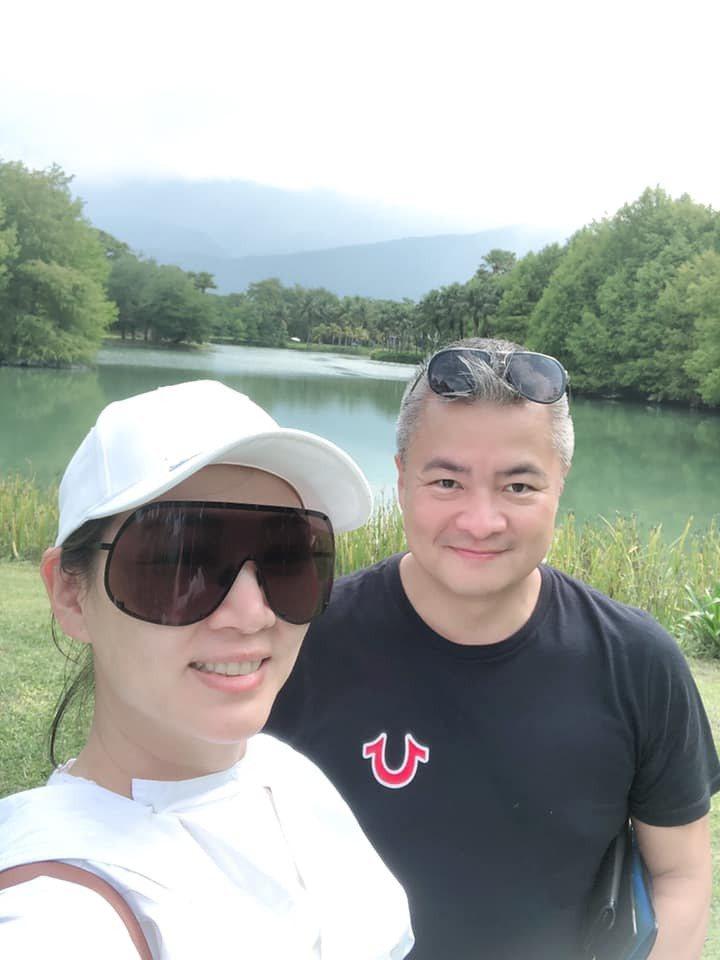 郁方與老公陳昱羲。 圖/擷自郁方臉書