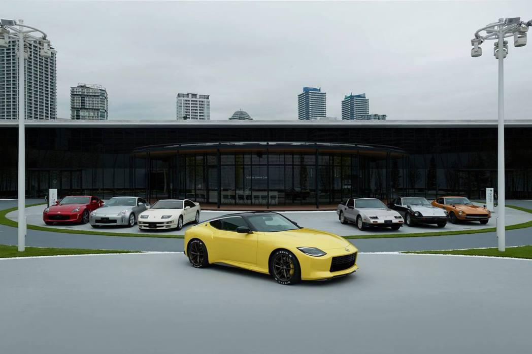 在Nissan橫濱總部外,7個世代的Z一同集結。 摘自Nissan
