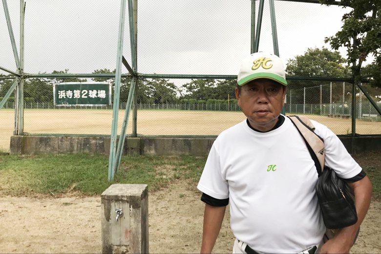 現年64歲的神田剛志,1968年曾代表關西少棒隊來台與紅葉少棒對戰。  圖/作者自攝
