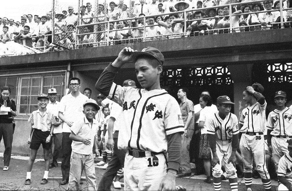 1968年紅葉對戰關西少棒隊,最後由紅葉少棒以7:0勝出。圖為紅葉隊江紅輝。 圖/聯合報系資料照
