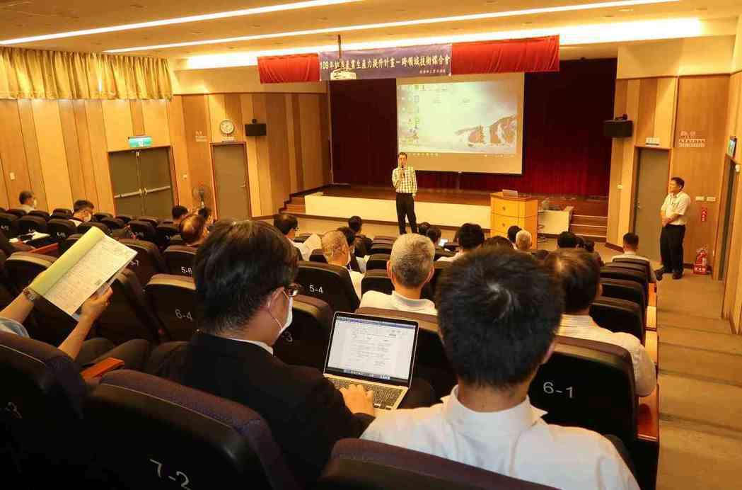 紡織產業智慧製造跨領域技術研討會現場。 李炎奇/攝影