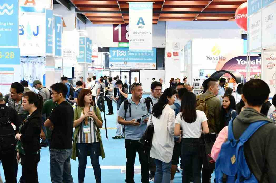 2019年台灣國際水週展會現場參觀人潮。 貿協/提供