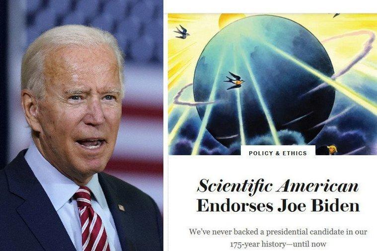 破創刊175年慣例!「科學美國人」雜誌挺拜登 批川普無視科學