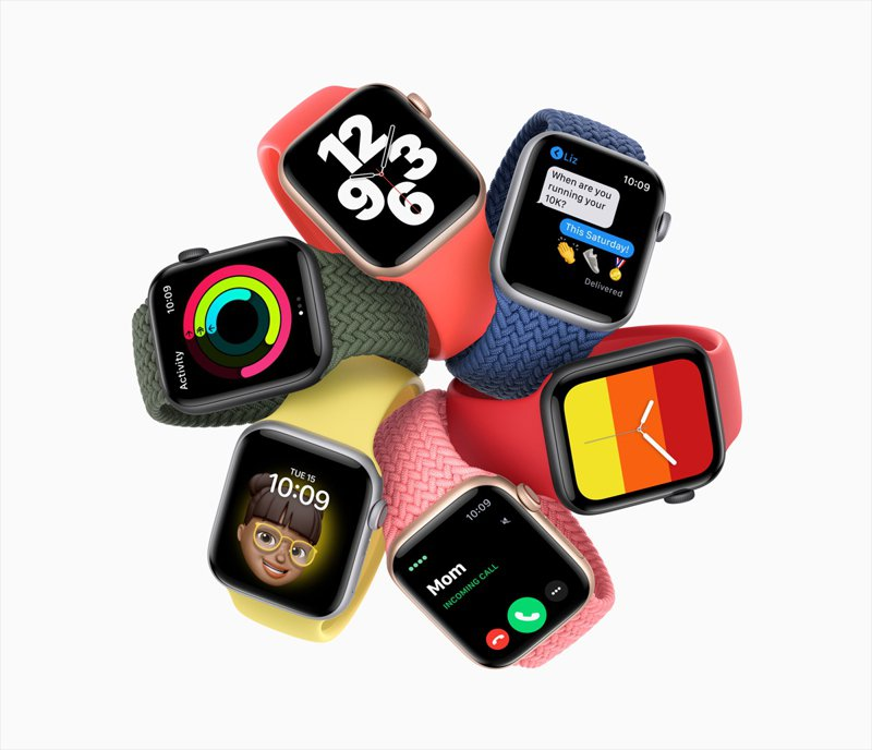 Apple Watch SE。歐新社