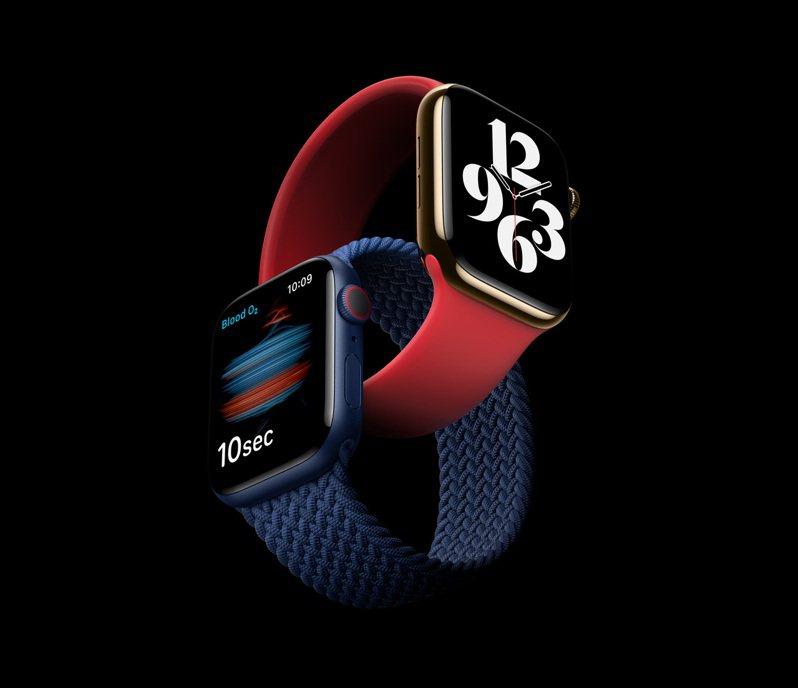 透過全新感測器與專屬App,Apple Watch Series 6可隨時測量你的血氧濃度。圖/蘋果提供