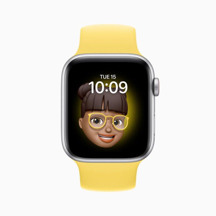 具有個人特色的Memoji也能變成表面圖樣。圖/蘋果提供