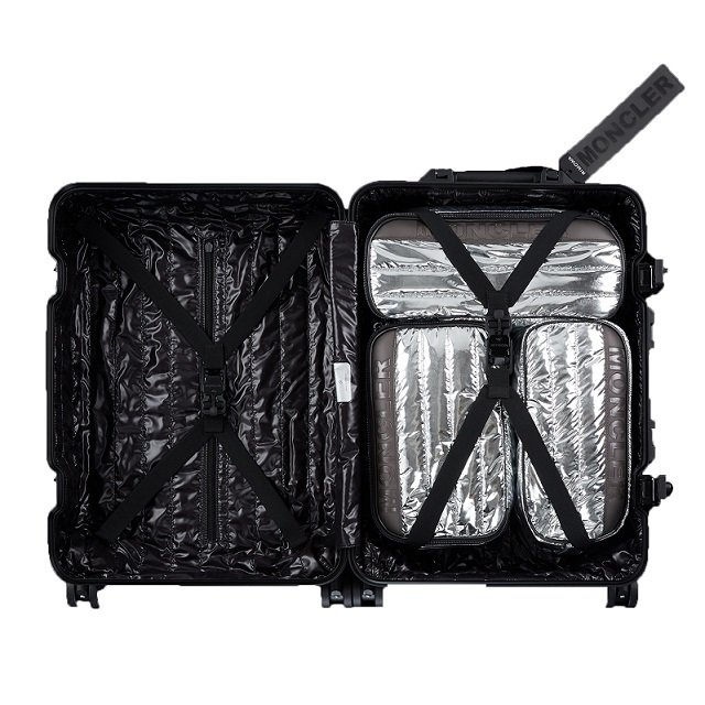 Moncler和RIMOWA聯名REFLECTION行李箱,內裝也採用了品牌經典...