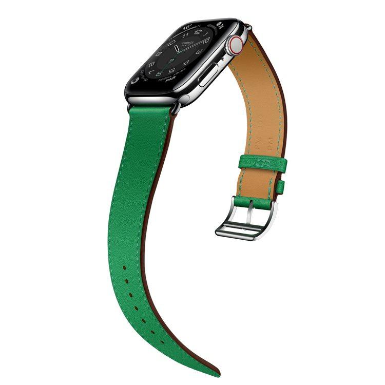 第六代Apple Watch Hermès系列,44mm表殼配單圈竹子綠色swi...