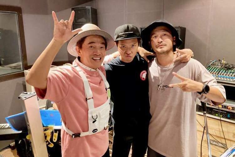 吳宗憲(左起)和小鬼(中)、KlD交情甚篤。圖/摘自臉書