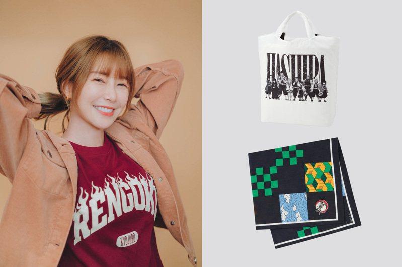 UNIQLO與日本漫畫《鬼滅之刃》的合作,推出第二波聯名系列,除了T恤之外,更聚焦在包包、限量方巾和紙箱。圖/UNIQLO提供