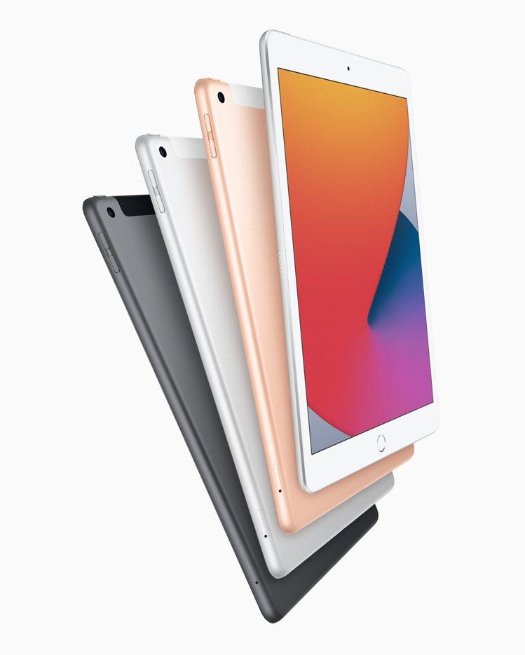 新款iPad備有銀色、太空灰色與金色外觀,建議售價10,500元起。圖/蘋果提供