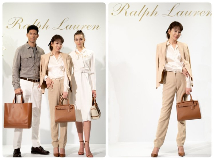 Melody穿著RALPH LAUREN的Collection早秋單品,與模特兒...