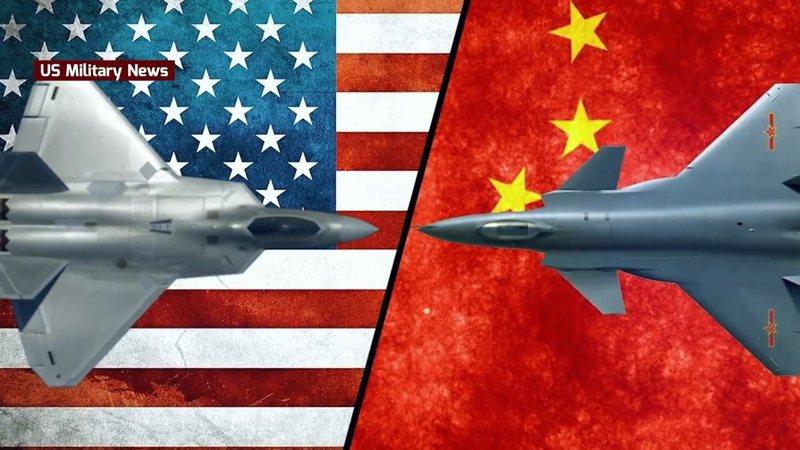 美方專家認為F-22擁有更優秀的匿蹤能力、雷達與精準武器,但殲-20可威脅美軍加油機或E-3空中預警機。圖/翻攝YouTube US MILITARY NEWS