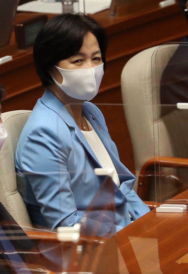 韓國法務部長秋美愛。歐新社