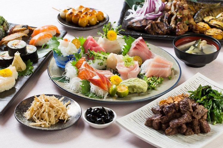 彩日本料理同樣推出「買1送1」的優惠活動。圖/君悅酒店提供