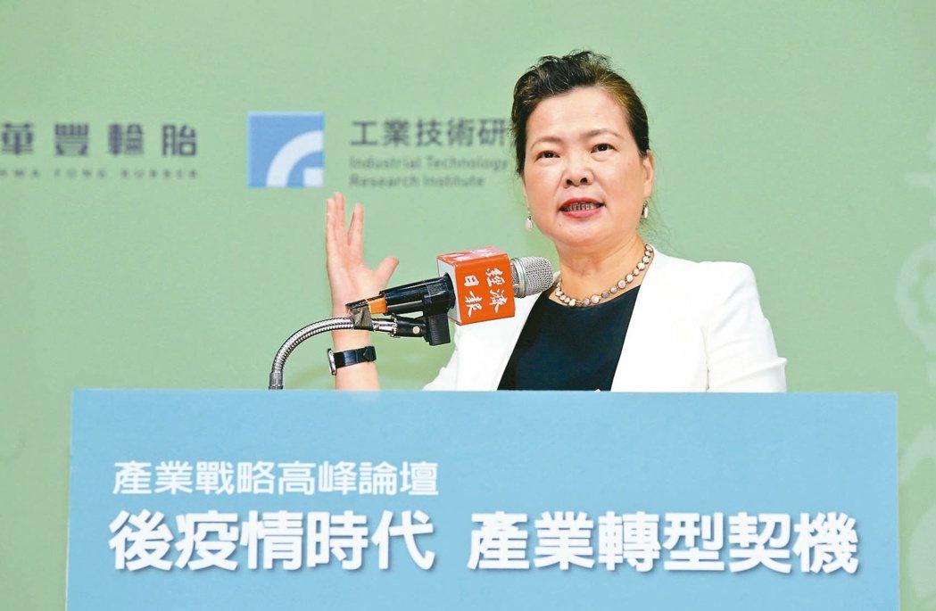 經濟部長王美花記者林俊良/攝影