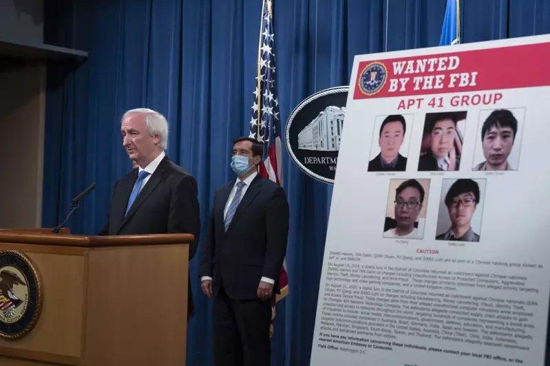 美國司法部起訴包括蔣立志、錢川、付強、張浩然與譚戴林等五位中國駭客。 美聯社