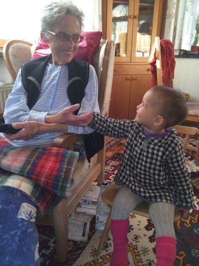 吳品瑜純真可愛的小女兒,為癌末奶奶帶來無限慰藉。 圖片提供/幸福熟齡(來源:吳品...