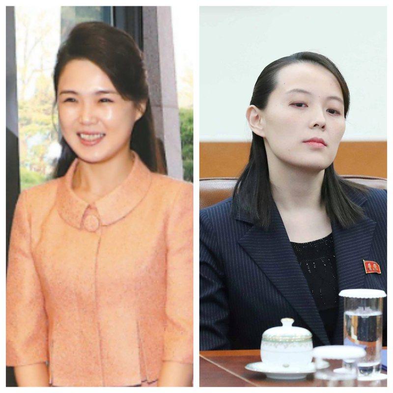 《華郵》副總編伍德沃德(Robert Upshur Woodward)在新書中透露北韓金氏政權的2個女人,金正恩的夫人李雪主(左)及其胞妹金與正(右)2人地位的差異。圖/法新社、路透,報系合成照。